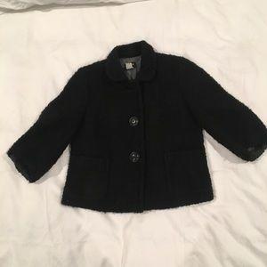 J Crew black textured wool blazer size 6